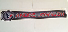 """Andre Johnson FATHEAD Official Player Name Banner 38"""" x 6.5"""" Texans NFL Graphics"""