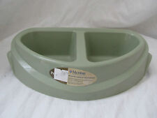 New Petmate Microban Double Diner Dog Feeder/Bowl/Dish Green Ultra Heavy Weight