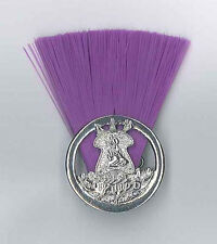 SCOUTS OF LESOTHO - SCOUT COMMISSIONER (PURPLE COLOUR) Metal Plume / Hat Patch