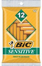 BIC Sensitive Shaver, Men's Disposable Razor, 12 pack