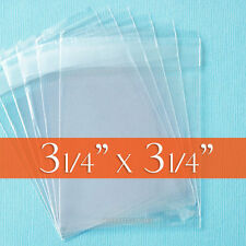 300 Cellophane 3 1/4 x 3 1/4 Inch Clear Bags; OPP Poly,Reclosable Adhesive Cello