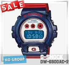 G-SHOCK BRAND NEW WITH TAG DW-6900AC-2 BLUE X RED Digital Resin Band 200M WATCH