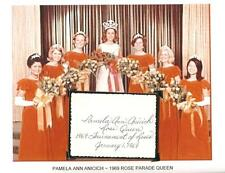 Pamela Ann Anicich - Autograph w/ Photo of Court 1969 Rose Parade Queen #2