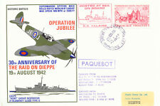 2444 RAF rare combination cover ship post/flight cover carried w Hovercraft 1972