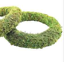 Moss Effect Ready Padded Wreath 25cm / 10 inch Dia - Great for Christmas Wreaths