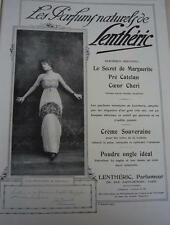 Publicité de presse Les parfums naturels de LENTHERIC Jane RENOUARDT / Talbot