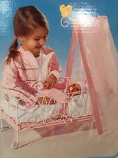 New Zapf Creations Baby Annabell White Metal Baby Doll Canopy Bed