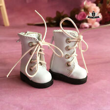 1/8 BJD Shoes Dollfie DREAM DIM LATI Tiny white Boots DOD AOD LUTS SOOM DZ 3.5cm