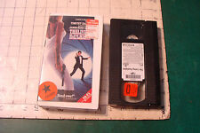 VHS--THE LIVING DAYLIGHTS timothy dalton in plastic case c. 1988