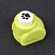 2pcs Mini Plastic Craft Punch Sets for Paper Shapers Dog Paw Prints Random Color