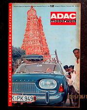 ADAC-Motorwelt 12/63 Turin 63,Test Fiat 1500,USA-Modelle 64,Camping-Messe Essen