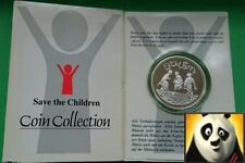 1991 OMAN 2 1/2 OMANI RIALS Save the Children Fund Silver Proof Coin + COA