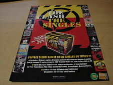 THE CLASH - THE SINGLES !!!!!!!!!!!!FRENCH PRESS ADVERT