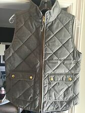 NWT J. Crew JCrew Excursion Quilted Vest Flannel Gray Grey Small S