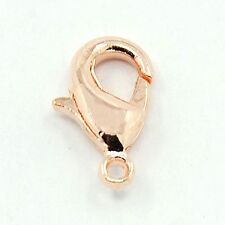 10 x  Rose Gold Plated 12mm Lobster Clasps    J1494