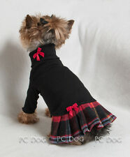 M Winter Plaid Turtleneck T Shirt Dog Dress clothes pet Apparel Medium Pc Dog®