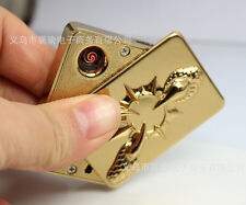 USB Cigar Lighter Electronic Rechargeable Flameless cigarette lighter yellow
