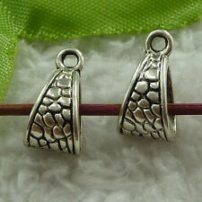 free ship 280 pieces tibet silver nice bail charms 15x7mm #3725