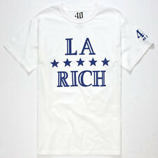 40oz NYC LA Rich Tee in White Size Large