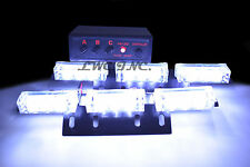 18 LED Emergency Vehicle Strobe Lights Deck Dash Grille Lightbars White