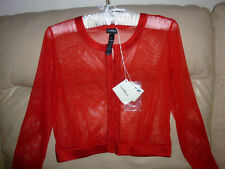 NWT RED SEXY La Perla ITALY Loungewear LYCRA MESH SILK SEE THROUGH Shirt Top