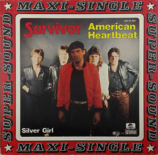 "12"" Maxi - Survivor - American Heartbeat - k2191 - washed & cleaned"