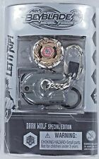 Beyblades DARK WOLF Keychain Metal Fusion Special Ed Chrome S2 Keyring Top NEW