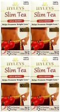 Hyleys 100% Natural Slim Green Tea Goji Berry 25 Teabags (4 PACK)