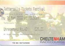 Cheltenham - 16 March 2000 Horse Racing Ticket