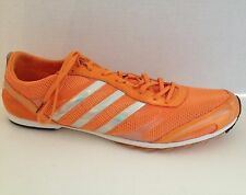 Adidas Adizero Mens Size 13 Track and Field Spikes Cleats Orange Tennessee Shoes