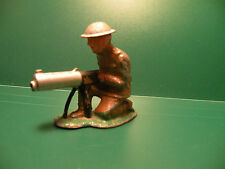 SOLDIER DOUGHBOY KNEELING WITH MACHINE GUN Vintage BARCLAY / MANOIL lead toy K5