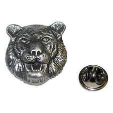 Pewter Tiger LAPEL PIN Wildlife Sarari Club Group Hat Cap Badge Present GIFT BOX