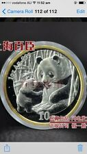 2005 china exposition panda  gold plated SILVER COIN