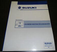 Werkstatthandbuch Allgemeine Anleitung Klima Suzuki Swift Vitara Wagon R SJ 1993