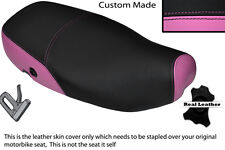 PINK & BLACK CUSTOM FITS PIAGGIO VESPA LX 125 DUAL LEATHER SEAT COVER