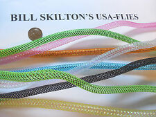 SKILTON 8 MYLAR EZ BRAID TUBING MYLAR TUBE TINSEL AST COLORS FLY TYING MATERIALS