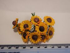 1:12 Scale Sunflowers 2  Dolls house Miniatures Flowers, Garden
