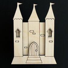 Wooden Fairy Princess Castle Elf Pixie Door Kit Blank Craft Shape