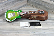 WOW! Gibson Les Paul Custom Shop Pro Iguana Burst Flame Best Finish Ever