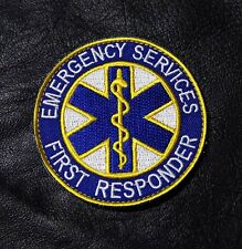 EMERGENCY FIRST RESPONDER  MEDIC EMS FIRE FIGHTER EMT HOOK LOOP PATCH