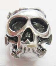 * Nuovo * Originale 925 Argento Sterling Teschio Fascino Perlina-Gotico, Halloween