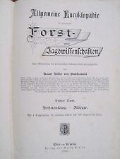 Allgemeine Encyklopädie der gesammten Forst- und Jagdwissenschaften 3. Band 1888