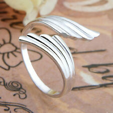 Chic Fashion 925 Sterling Silver Double Angel Wings Opening Adjustable RING Gift