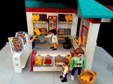 Playmobil Bakery Shop Store Set #4410 Bread Cookies Cinnamon Rolls Bike Rack