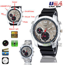 Black HD 1080P 8GB Night Vision Gel Spy Watch Camera Video DVR Recorder Camcoder