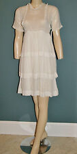 Antique 1900's Edwardian Titanic Era White Lawn Lace Period Child's Dress - L