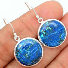 Shattuckite 925 Sterling Silver Earrings Jewelry SKTE40