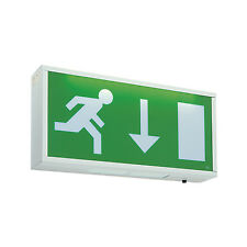SAXBY EXODUS 1.05W LED Maintained EMERGENCY EXIT BOX SIGN 13735