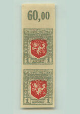 Lithuania, 1919, SC 58, MNH, imperf, wmk 145, vertical pair. e7010