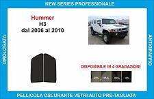 pellicole oscuranti vetri hummer h3 dal 2006-2010 kit anteriore